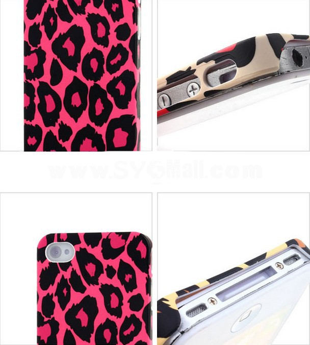 Leopard Pattern Plastic Case for iPhone4/4s