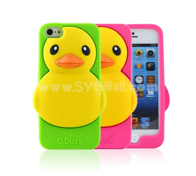 Lovely Stylish Duck Pattern Silicone Case for iPhone5