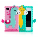 Wholesale - Lovely Cartoon Horse Pattern Silicone Case for iPhone4/4s