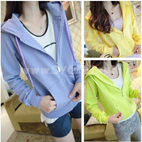 2013 New Arrival Solid Color Long Sleeve Hoodie