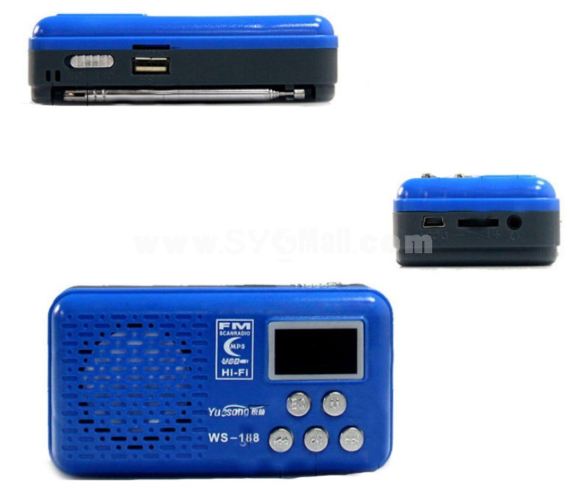 YueSong T88 Radio Shape Speaker Support TF Card U Disk with FM Radio