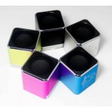 Wholesale - YueSong T14 Aluminium Alloy Speaker Square Pattern Support TF Card with FM Radio
