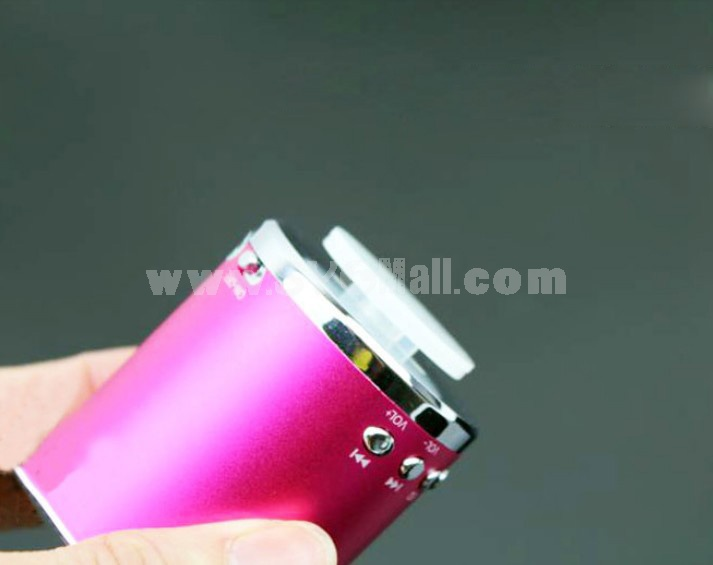 MA-02 Mini Column Pattern Speaker Subwoofer Support TF Card U Disk with Li Battery