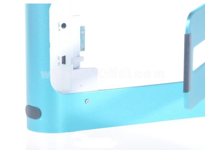 Simple Pattern Metal Holder Speaker for iPhone iPad