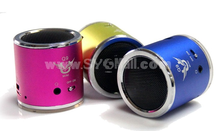YueSong Q9 Column Pattern Multi Card Read Speaker with FM Radio