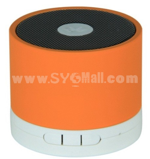 A102C Stylish Column Pattern Bluetooth Phone Function Al Alloy Speaker