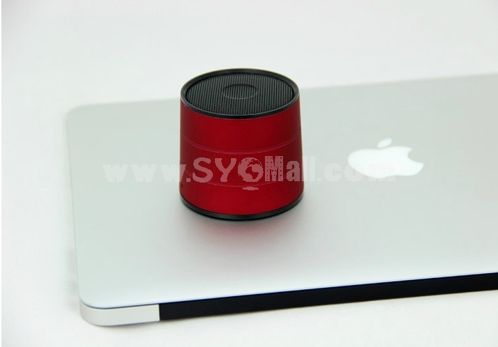 A1022 Stylish Column Pattern Bluetooth Phone Function Al Alloy Speaker