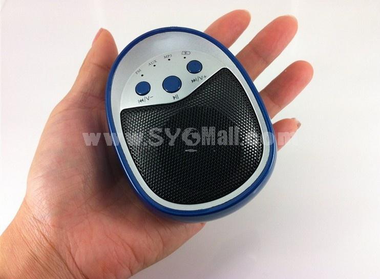 Dk-622 Mini Portable Multi Card Reader Speaker with FM Radio
