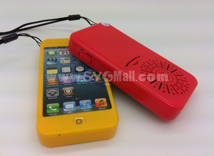 Mini Portable Phone Pattern Multi Card Reader Speaker
