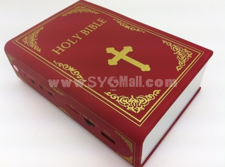 Classic Dictionary Bible Quran Pattern Mini Portable Multi Card Reader Speaker with FM Radio