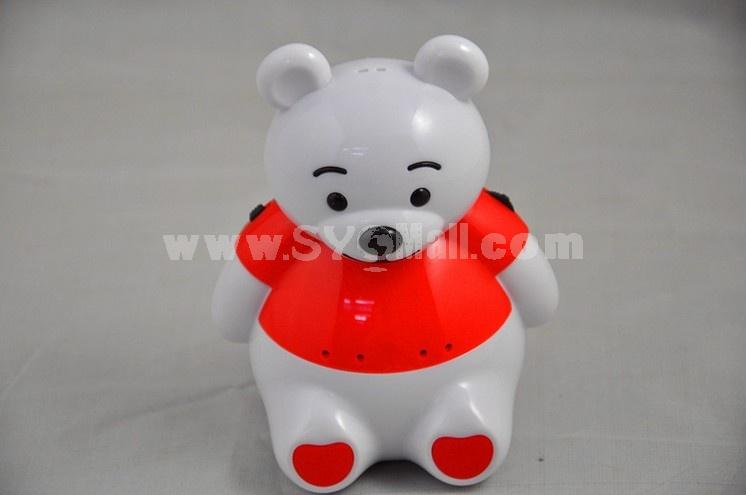 Cartoon Cute Bear Pattern Mini Portable Multi Card Reader Speaker