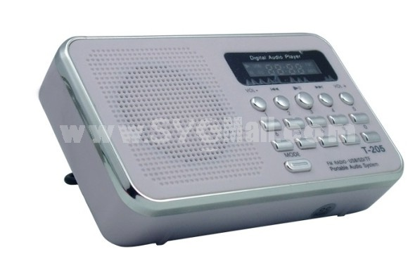T-205 Mini Portable Multi Card Reader Speaker with FM Radio