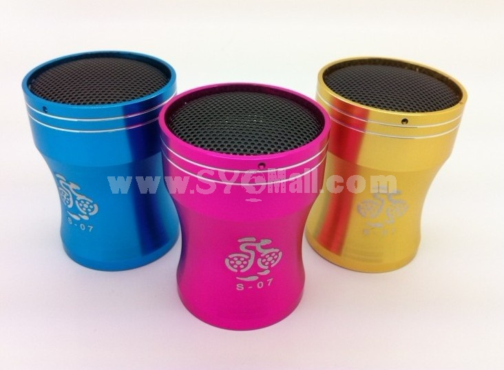 S-07 Metal Mini Portable Multi Card Reader Speaker