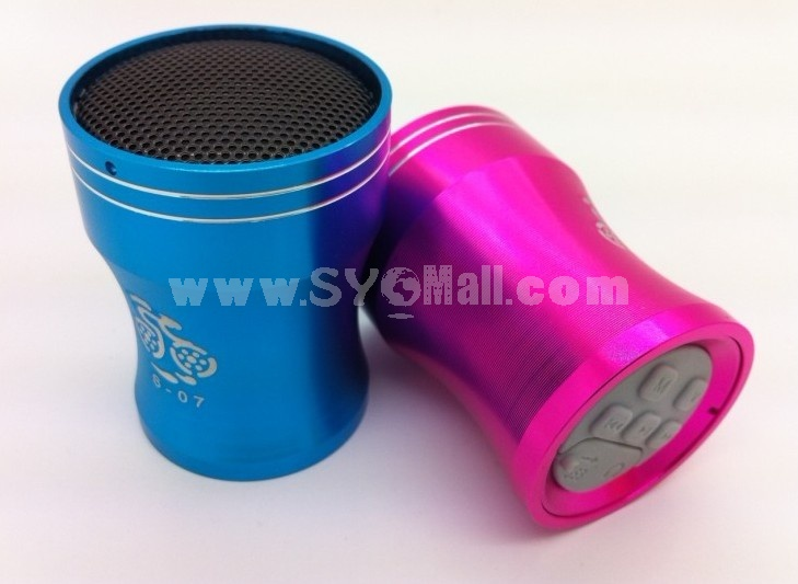 S-07 Metal Mini Portable Multi Card Reader Speaker