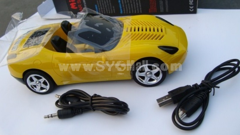Stylish Z5 Sports Car Mini Portable Multi Card Reader Speaker