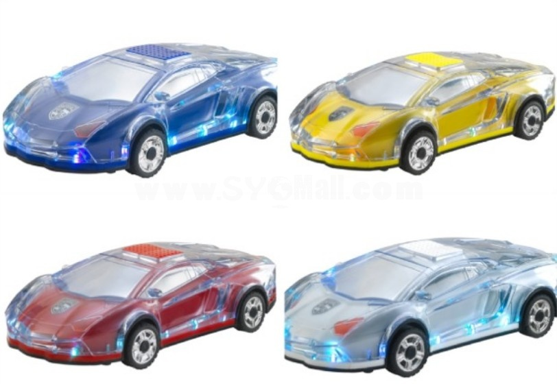Stylish V18 Colorful Transparent Car Pattern Mini Portable Multi Card Reader Speaker