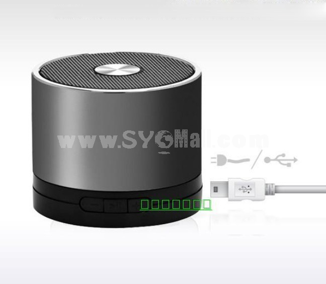 Stylish A1 Column Pattern Wireless Bluetooth Subwoofer Mini Portable Multi Card Reader Speaker