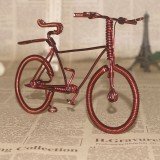 Wholesale - Creative Handwork Metal Decorative Men's Pattern Bicycles with Back Seat/Brass Crafts