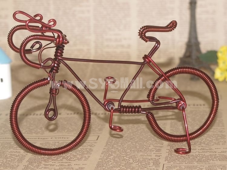 Creative Handwork Metal Decorative Men's Pattern Bicycles with Back Seat/Brass Crafts