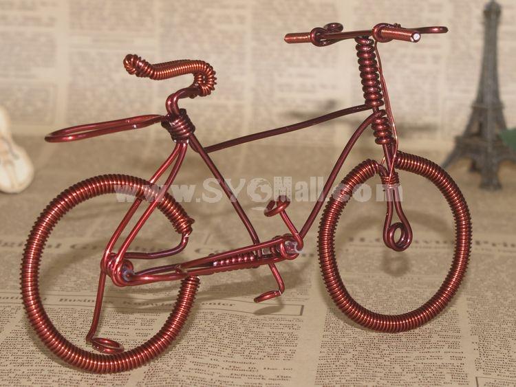 Creative Handwork Metal Decorative Women's Pattern Bicycles/Brass Crafts