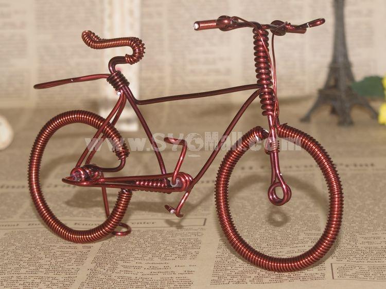 Creative Handwork Metal Decorative Men's Pattern Bicycles/Brass Crafts