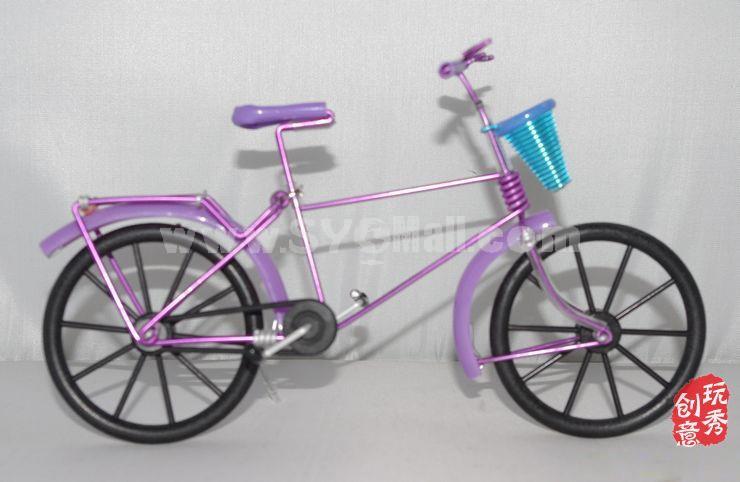Creative Handwork Metal Decorative Women Pattern Bicycles/Iron Crafts