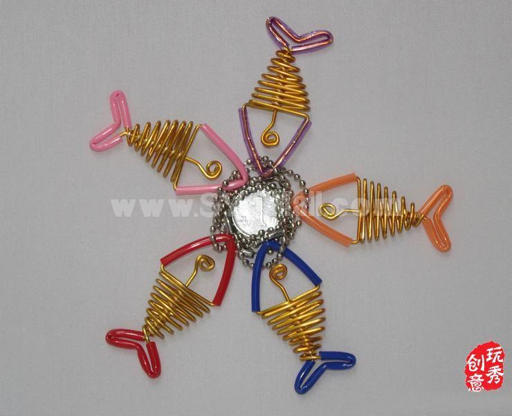 Creative Handwork Metal Decorative Fish Bone Crafts Key Ring