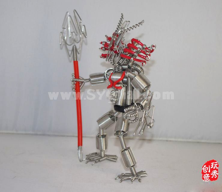 Creative Handwork Metal Decorative Red Spider Head Robot/Brass Crafts