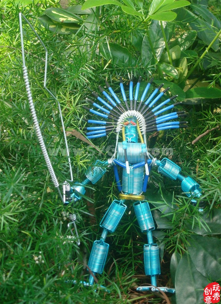 Creative Handwork Metal Decorative The Apache Knight/Brass Crafts