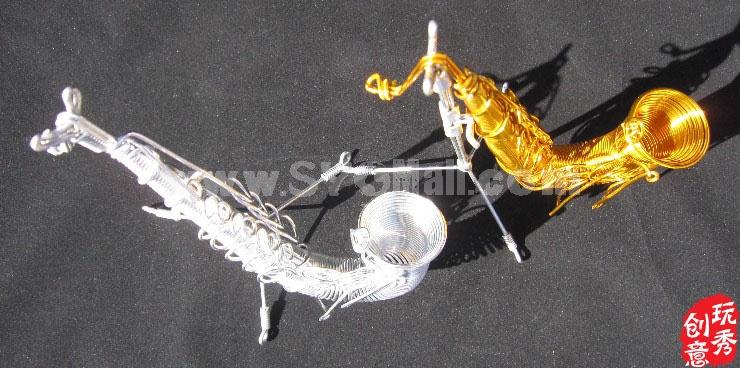 Creative Handwork Metal Decorative Sax/Brass Crafts