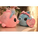 Wholesale - Soft Lover Kissing Fish Plush Toys Stuffed Animals 2PCs Set 18cm/7Inch