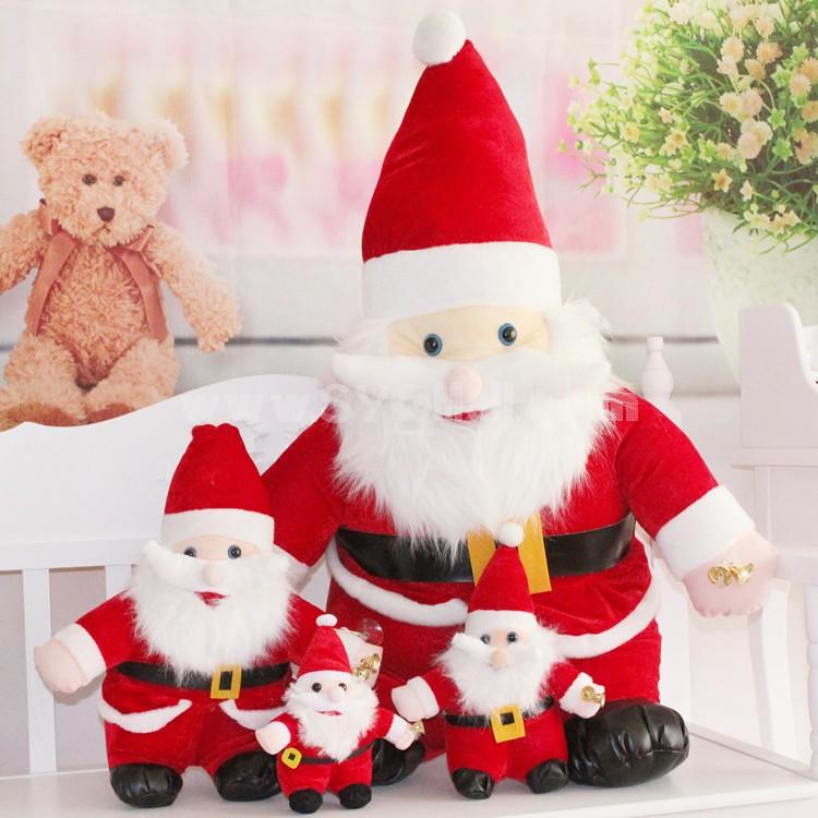 "13*5CM/5*2"" Small Cute Soft Christmas Santa Claus Plush Toys Set 30PCs"