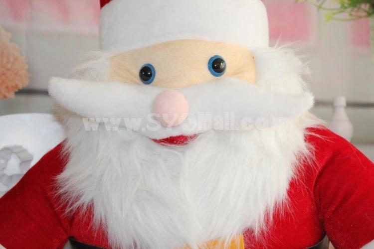 "15*10CM/6*4"" Small Cute Soft Christmas Santa Claus Plush Toys Set 12PCs"