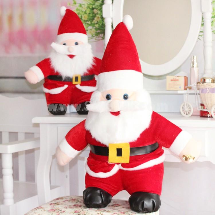 """25*15CM/10*6"""" Middle Size Cute Soft Christmas Santa Claus Plush Toys Set 6PCs"""