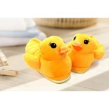 Wholesale - Cute Cartoon Yellow Rubber Duck Style High-top Thickened Warm Cotton Slipper