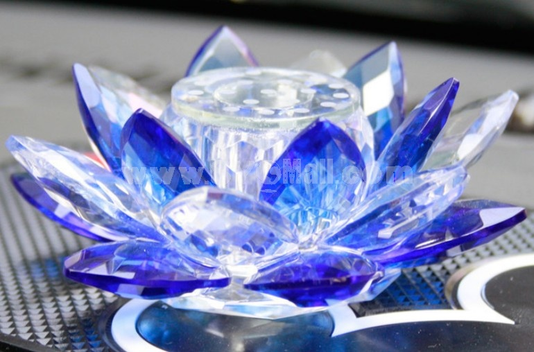 Car Accessories Décor Crystal Lotus Pattern Perfume Bottle Artware