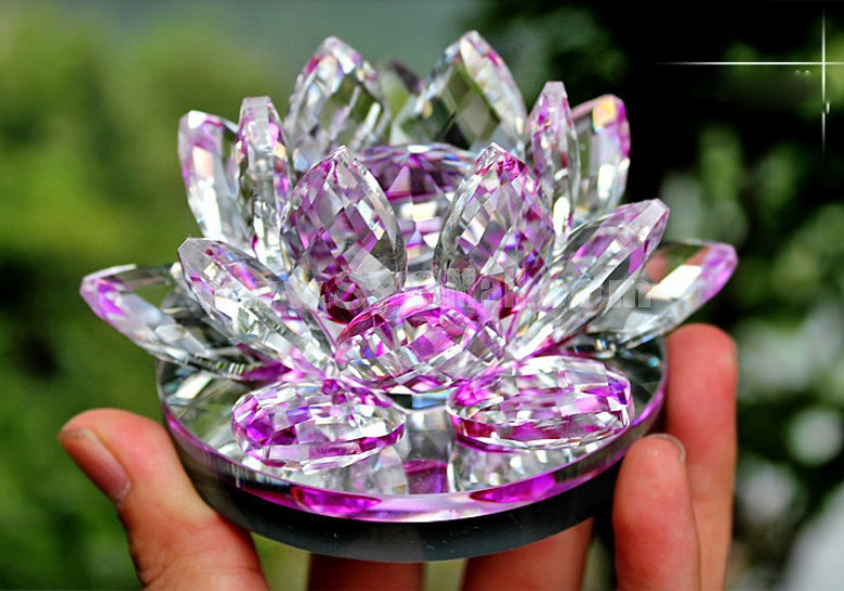 Creative Car Accessories Décor Crystal Lotus Pattern Perfume Bottle Artware