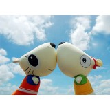 Wholesale - Cartoon Cat & Puppy Bamboo Charcoal Air Purifier Cushion (for Car/Office/Home) 2PCs