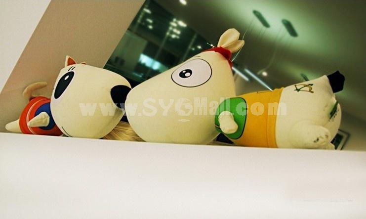 Cute Cartoon Cat&Dog Pattern Decor Air Purge Auto Bamboo Charcoal Case Bag Car Accessories Plush Toy A Pair 2 PCs