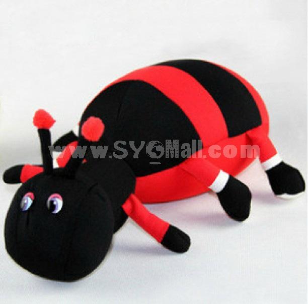 Cute Ant Pattern Decor Air Purge Auto Bamboo Charcoal Case Bag Car Accessories Plush Toy