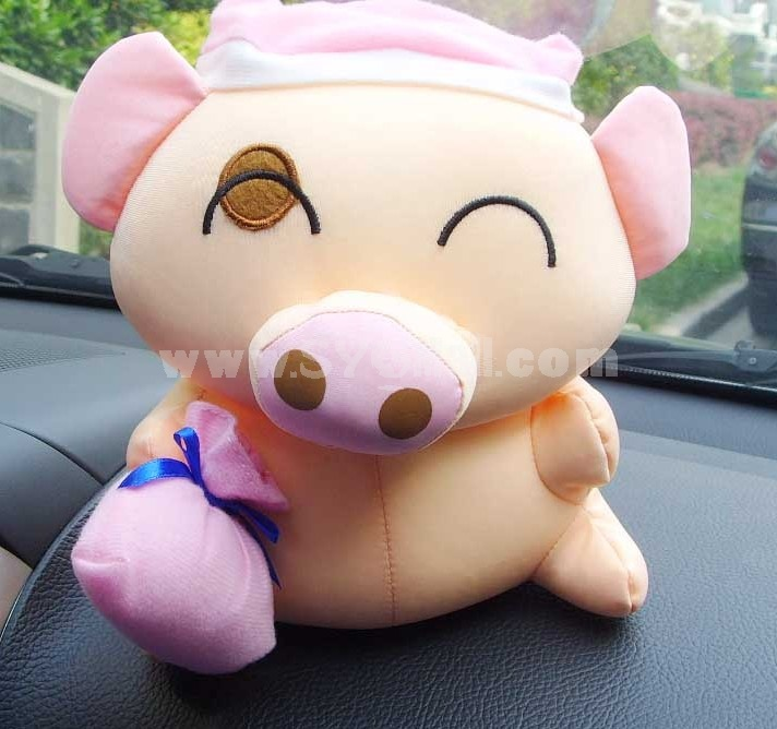 Cute Cartoon Mcdull Pattern Decor Air Purge Auto Bamboo Charcoal Case Bag Car Accessories Plush Toy A Pair 2 PCs