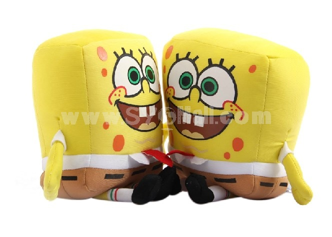 Cartoon SpongeBob SquarePants Pattern Decor Air Purge Auto Bamboo Charcoal Case Bag Car Accessories Plush Toy