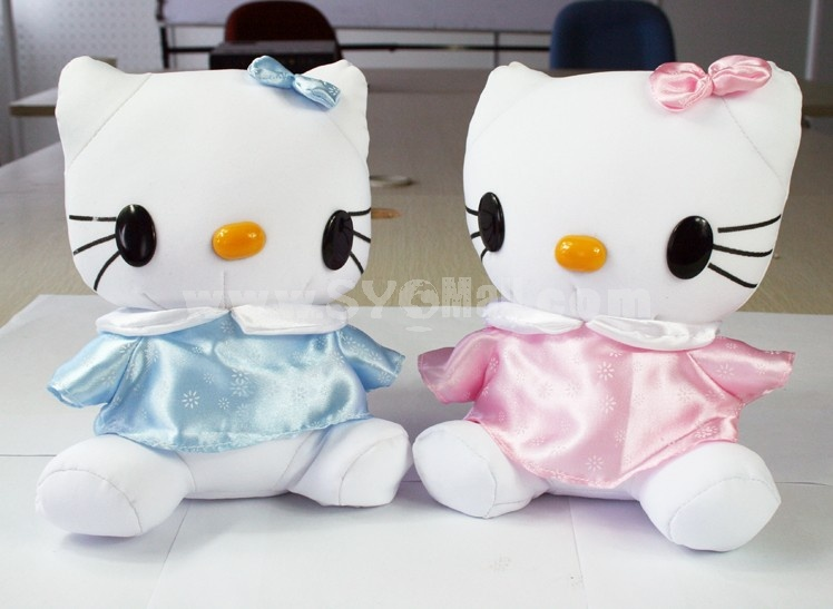 Cute Cat Pattern Decor Air Purge Auto Bamboo Charcoal Case Bag Car Accessories Plush Toy A Pair 2 PCs