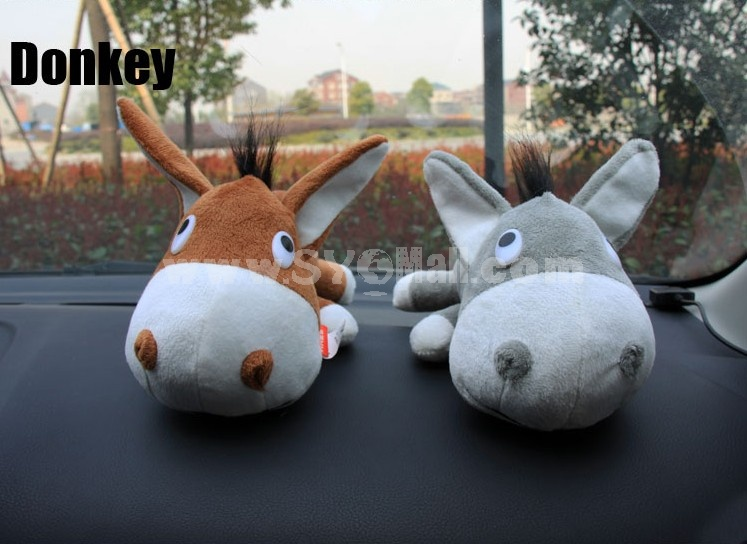 Cute Dog Pattern Decor Air Purge Auto Bamboo Charcoal Case Bag Car Accessories Plush Toy A Pair 2 PCs