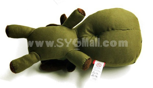 Cute Army Green Dog Pattern Decor Air Purge Auto Bamboo Charcoal Case Bag Car Accessories Plush Toy