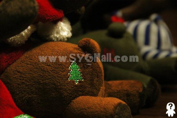 Cute Christmas  Dog Pattern Decor Air Purge Auto Bamboo Charcoal Case Bag Car Accessories Plush Toy