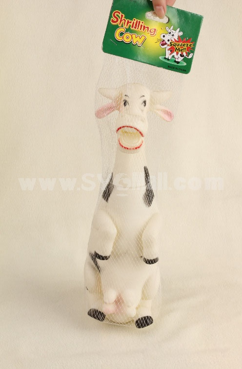Creative Decompressing Screech Toy Party Toy- Squawking Cow (Large Size)