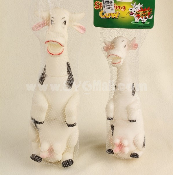 Creative Decompressing Screech Toy Party Toy- Squawking Cow (Medium Size)