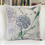 Wholesale - Decorative Printed Morden Stylish Flora Style Throw Pillow