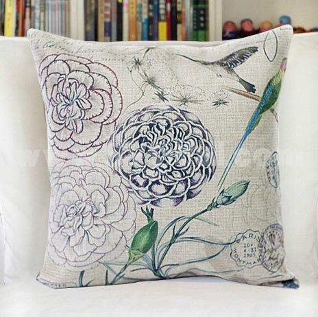 Decorative Printed Morden Stylish Flora Style Throw Pillow